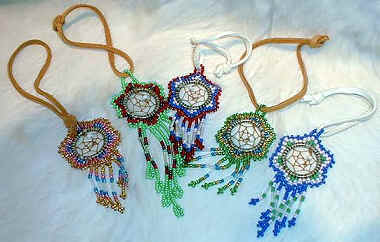 Miniature Beaded Dreamcatchers